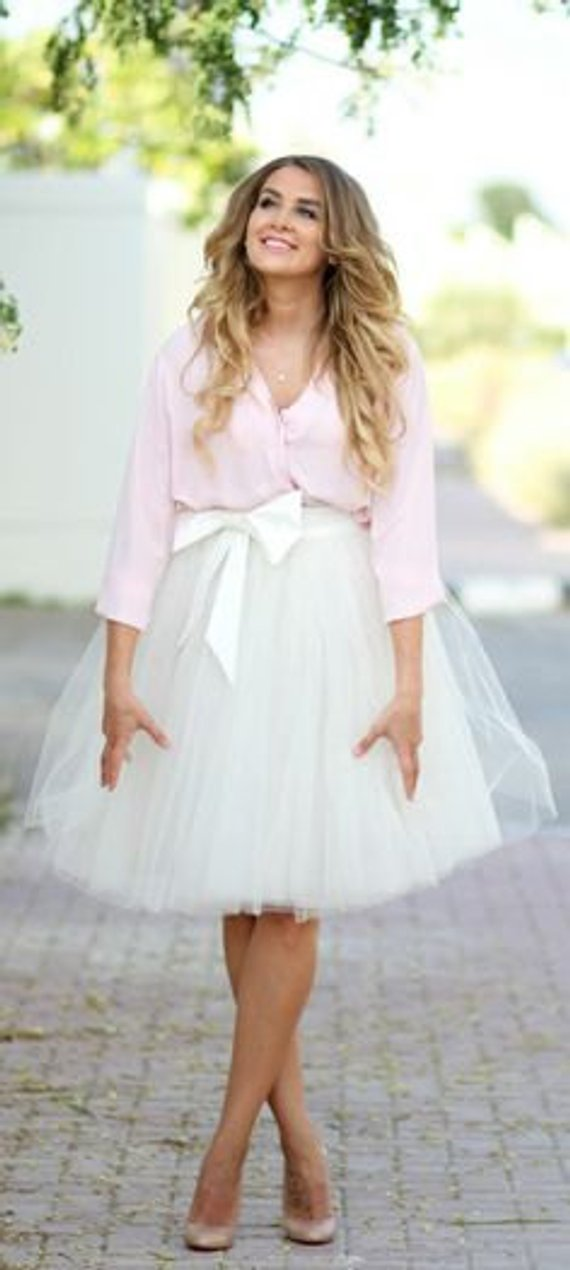 White Full Fluffy Short Tulle Skirt #skirt #fashion #trendypins
