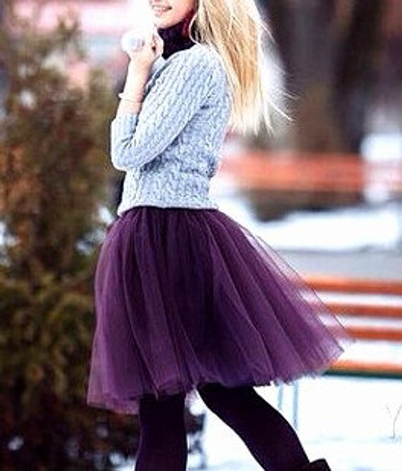 Eggplant Tulle Tutu Skirt, Dark Purple, Plum, Adult, Women #skirt #fashion #trendypins