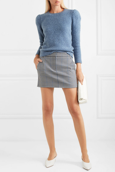 Gingham twill mini skirt #skirt #fashion #trendypins