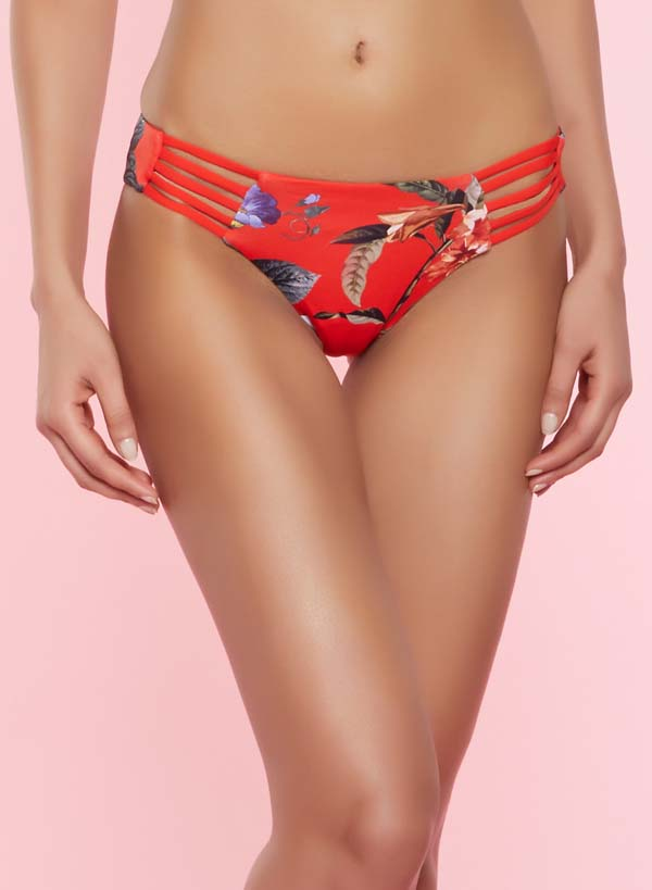 Floral Caged Bikini Bottom #Caged #panties #fashion #trendypins