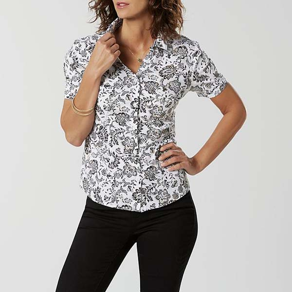 Basic Editions Women's Camp Shirt - Floral #camp shirt #shirts #fashion #trendypins