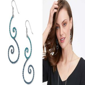 Sea Of Love Crystal French Wire Earrings