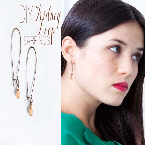 DIY KIDNEY WIRE STONE EARRINGS #kidney wire #earrings #fashion #trendypins