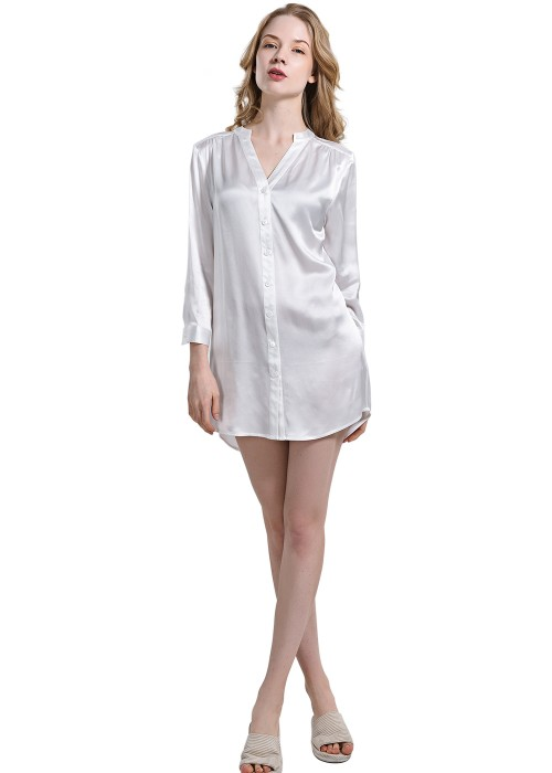 Sexy Soft Asymmetrical Silk Nightshirt For Women #nightshirt #shirts #fashion #trendypins