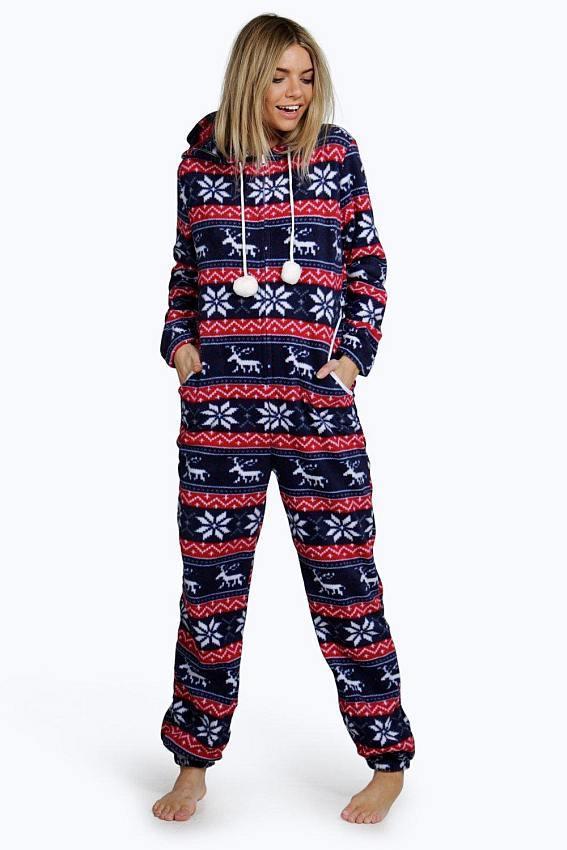 Fluffy Fleece Snowflake Onesie #onesie #shirts #fashion #trendypins