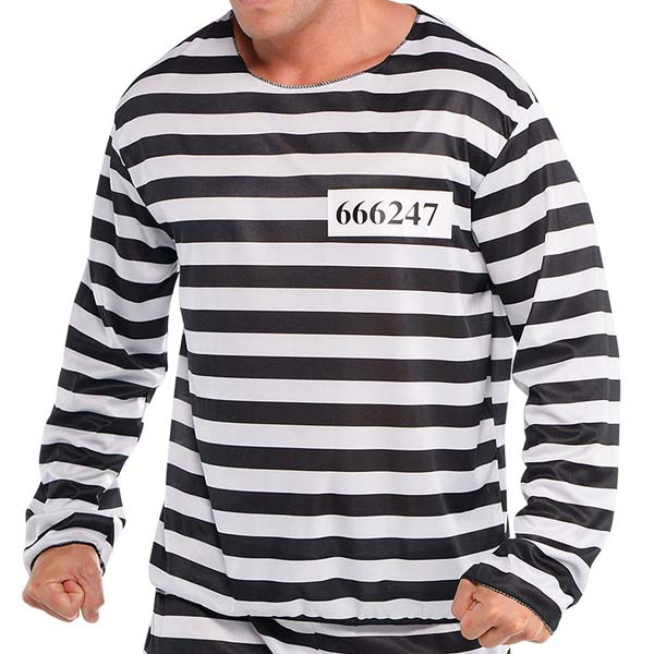 Adult Jail Bird Convict Prisoner Costume #prisoner shirt #shirts #fashion #trendypins