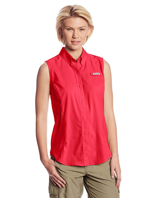 Columbia Sportswear Women's Tamiami Sleeveless Shirt #sleeveless shirt #shirts #fashion #trendypins