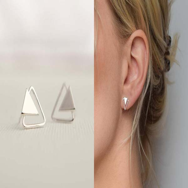 Triangle Stud Earrings #stud earrings #earrings #fashion #trendypins