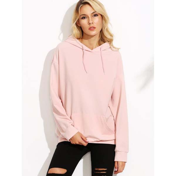 Drop Shoulder Hooded Sweatshirt With Kangaroo Pocket #sweatshirt shirt #shirts #fashion #trendypins