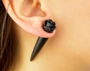 Rose Plugs Cheater Flesh Tunnel Rose Studs Fake Ear Tapers