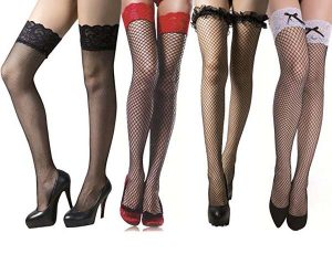 Womens Sexy Lace Thigh High Stockings Over Knee Fishnet Socks