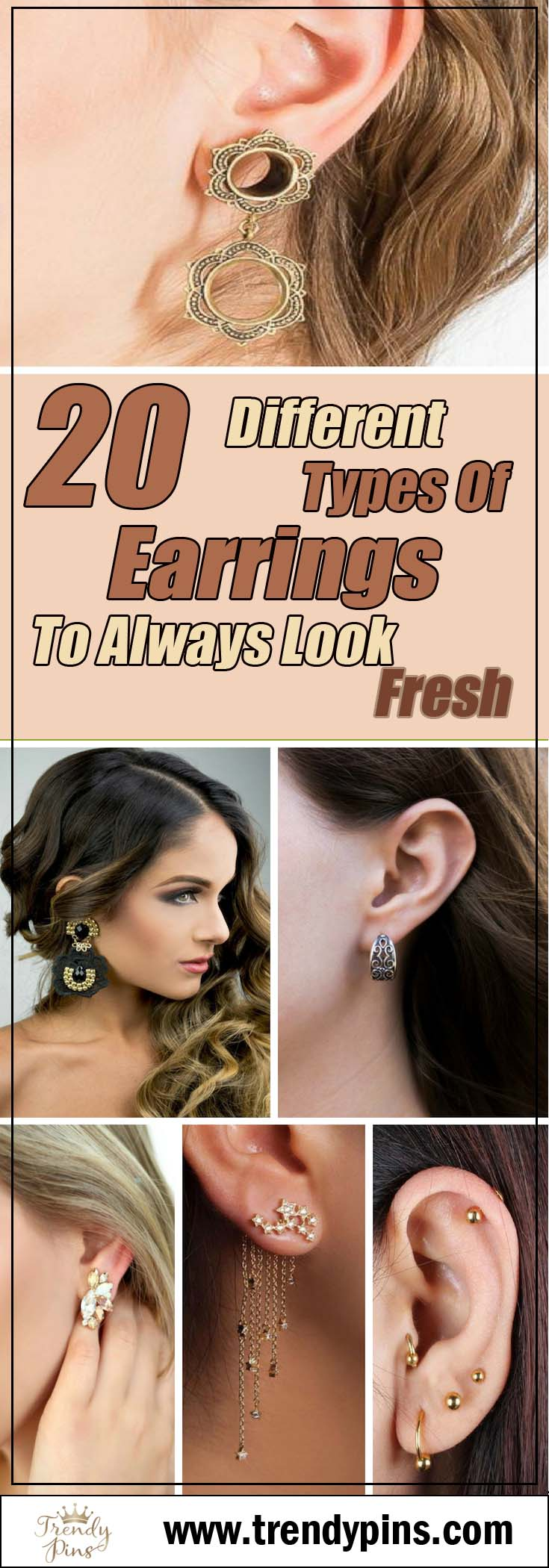 20 different types of earrings to always kook fresh #accessories #jewelry #earrings #fashion #trendypins