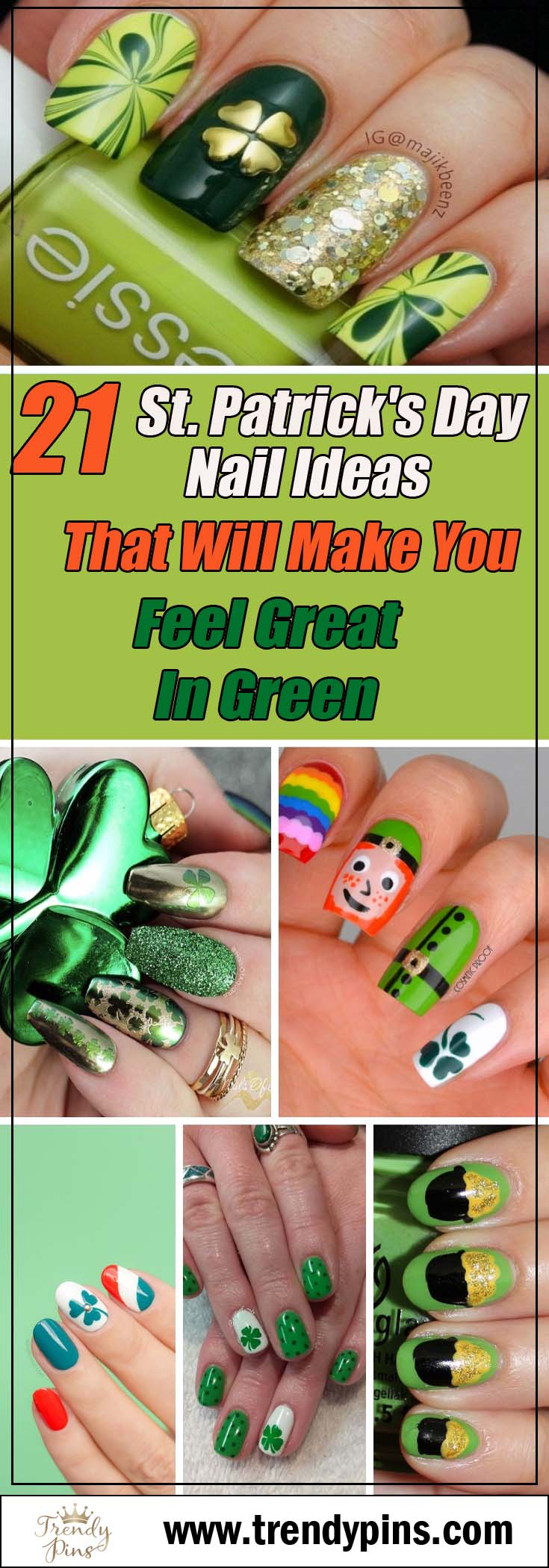 21 St Patrick's Day nail ideas that will make you feel great in green