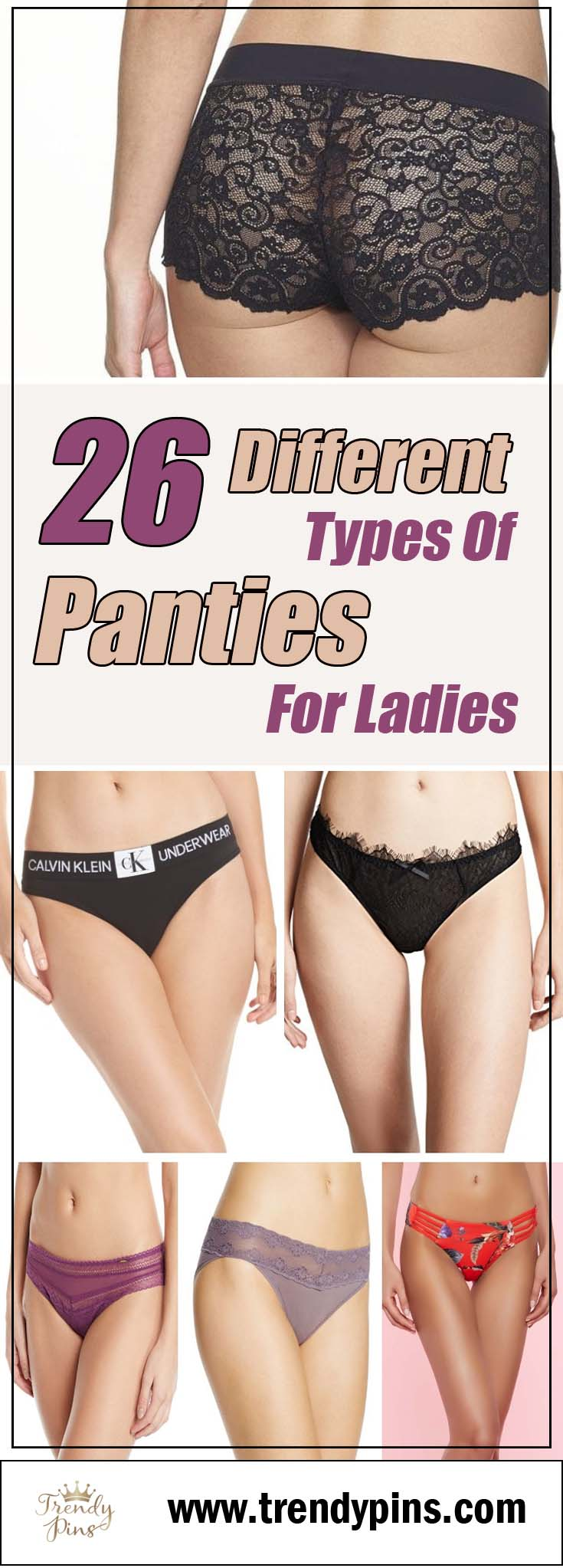 26 different types of panties for ladies #panties #fashion #trendypins