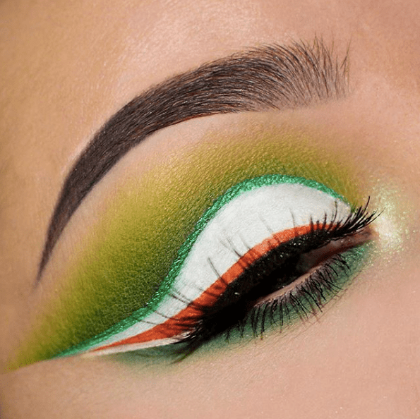 With All The Colors of Ireland's #beauty #makeup #St. Patrick's Day makeup #trendypins