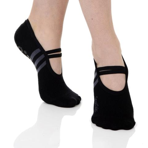 Ballet Grip Sock Black/Grey #ballet grip socks #socks #fashion #trendypins