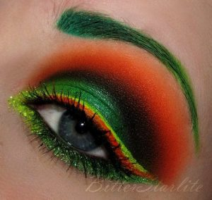 Cool St Patrick's Day makeup