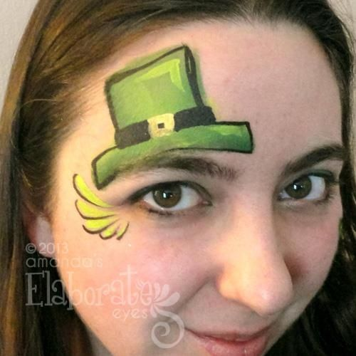 Cute for St. Patty's Day #St. Patrick's Day face painting #beauty #trendypins
