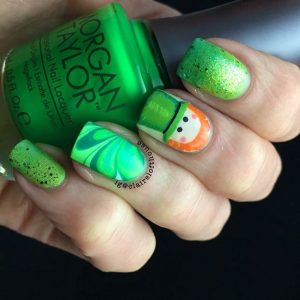 Cute Leprechaun Nail Design