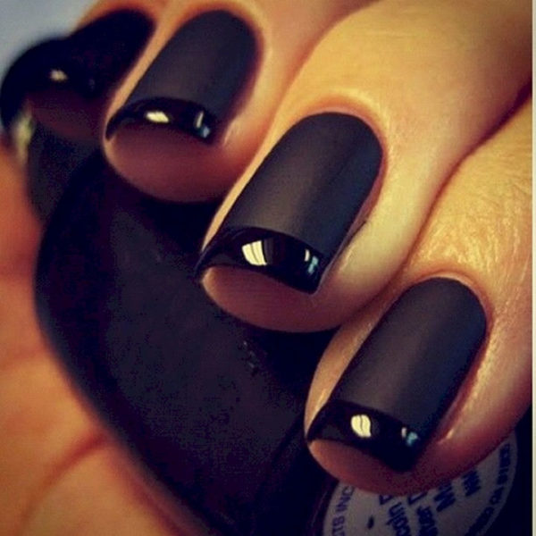 Rock and Roll Matte Black Manicure #french manicure #nails #beauty #trendypins