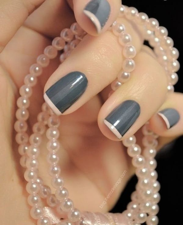 Old Fashioned Grey and Pink Manicure #french manicure #nails #beauty #trendypins