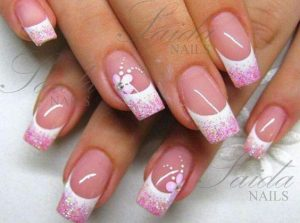 French manicure pink tips