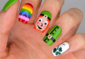 Happy St Patrick's Day Nail Art Design
