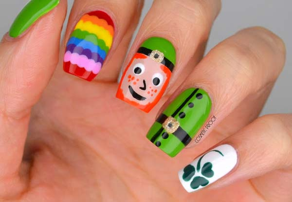 Fun & Festive Nails #St. Patrick's Day nails #nails #beauty #trendypins