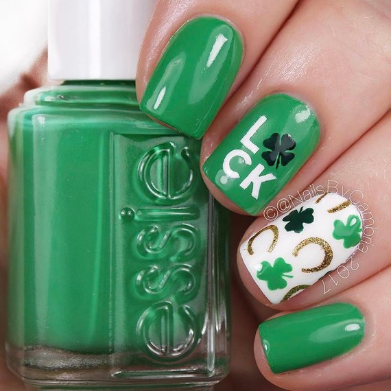 Cute Leprechaun Design #St. Patrick's Day nails #nails #beauty #trendypins