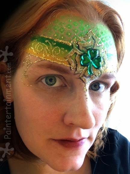 St. Patrick's Day Design By Gretchen Fleener #St. Patrick's Day face painting #beauty #trendypins