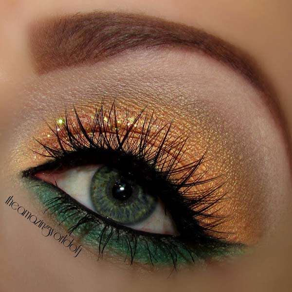 St. Patrick's Day green + smokey makeup #beauty #makeup #St. Patrick's Day makeup #trendypins