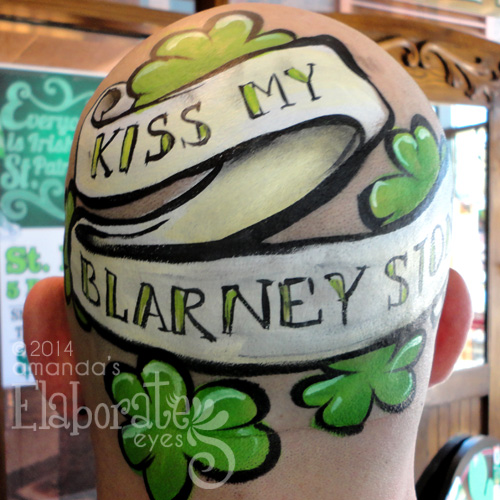 St. Patrick's Day Face Painting a Funny Sign #St. Patrick's Day face painting #beauty #trendypins