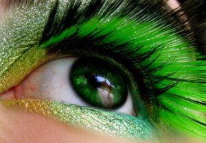 St. Patrick's Day makeup green eyeshadows