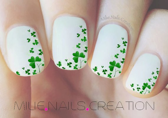 Pure as Spring #St. Patrick's Day nails #nails #beauty #trendypins