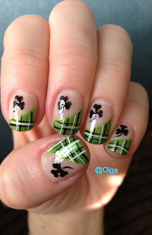 Green Dream #St. Patrick's Day nails #nails #beauty #trendypins