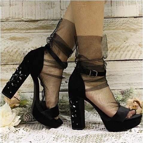 TULLE SHEER SOCK FOR HEELS - BLACK #tulle socks #socks #fashion #trendypins