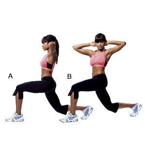 Lunge twist #Healthy living #Belly Fat #exercises #trendypins