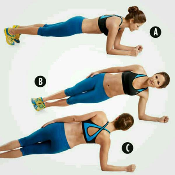 Rolling plank exercise #Healthy living #Belly Fat #exercises #trendypins