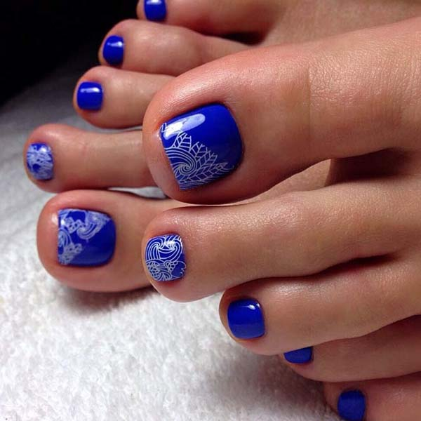 Effective Stamping On Toe Nails #toe nail art #nails #beauty #trendypins