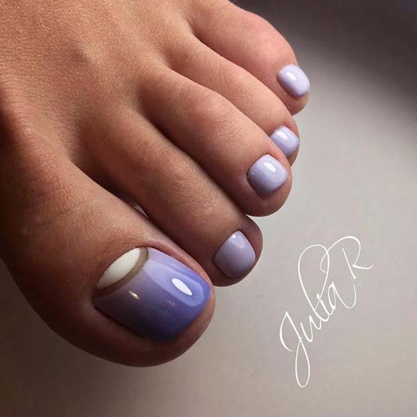 Half Moon Toe Nail Design #toe nail art #nails #beauty #trendypins