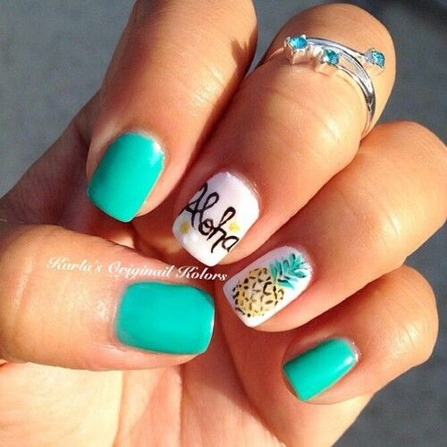 Aloha Nails With Pineapple #nails #beauty #trendypins