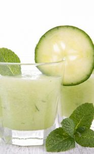 Bottle, gourd cucumber and lemon smoothie