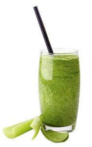 Celery, pear and ACV smoothie