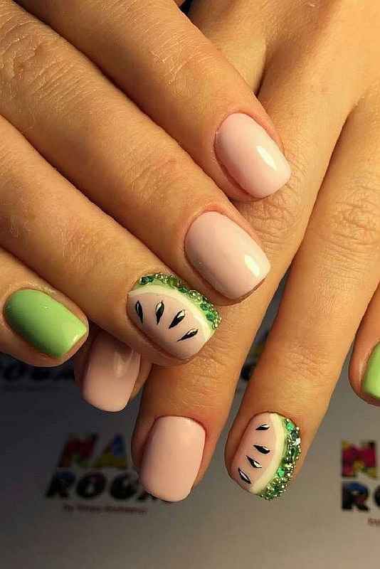 Fun Watermelon Nail Design #nails #beauty #trendypins