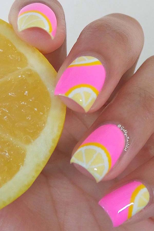 Lemon Nail Designs #nails #beauty #trendypins