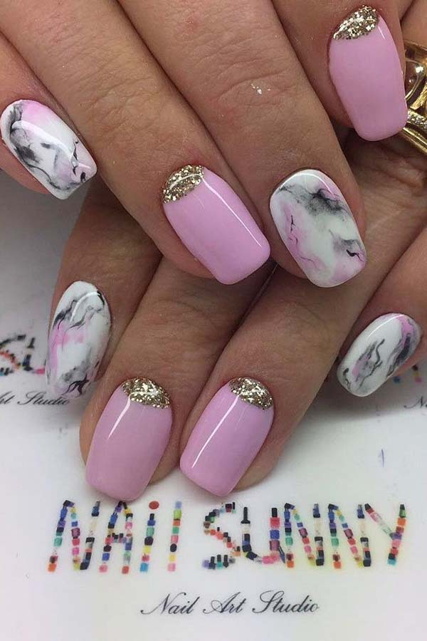 Marble Effect #nails #beauty #trendypins