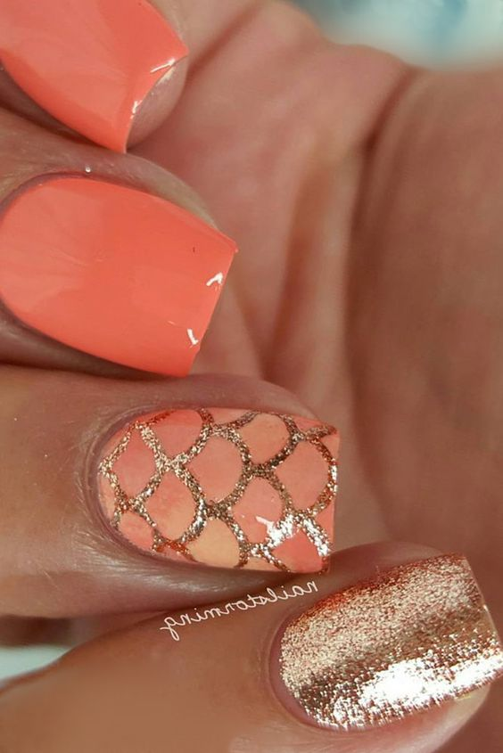 Rosé Mermaid Manicure #nails #beauty #trendypins