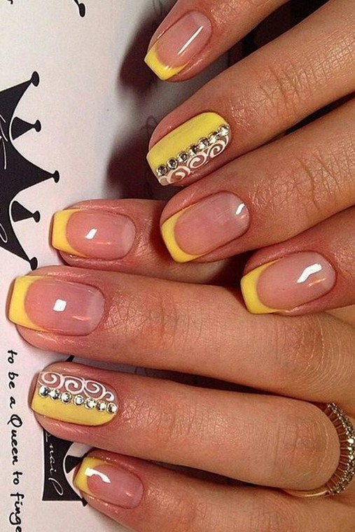 Yellow French Manicure #nails #beauty #trendypins