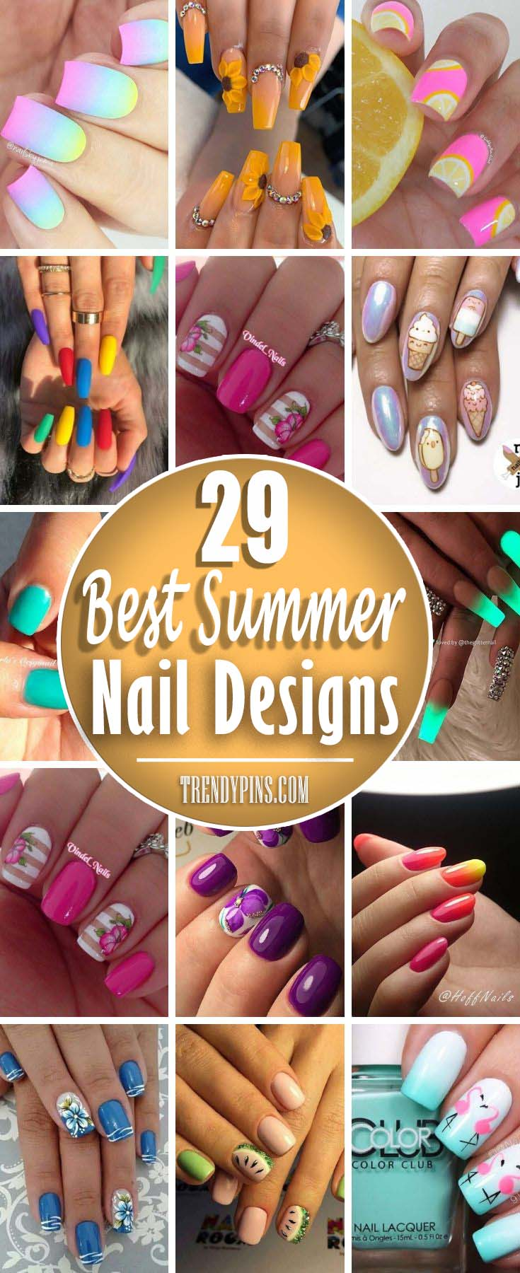 Create a summer mood around yourself by transferring it to your nails