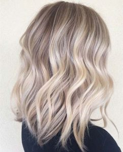 Beachy waves long bob